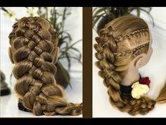 Trenza de 5 cabos con trenzas africanas/ peinados faciles par cabello largo y corto/LPH - YouTube