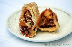 'Apple Cardamom Red Walnut Springroll'