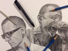 Awesome drawings of Chester Bennington!