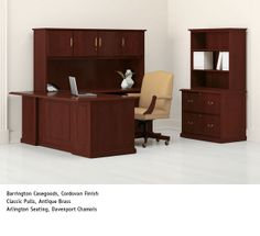 National Office Furniture - Barrington Casegoods, with Arlington task/work seating in private office. #NationalOffice #FurnitureWithPersonality