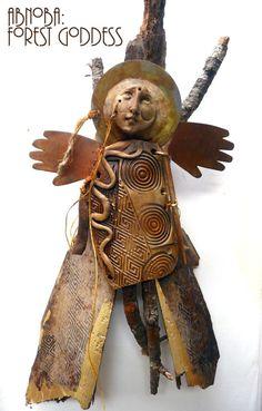 Anoba, Celtic forest goddess - my new work Paper Dolls, Art Dolls, Ooak Dolls, Spirited Art, Assemblage Art, Doll Maker, Textiles, Clay Art, Altered Art