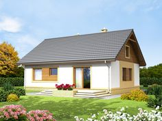 Wizualizacja ARN Irys CE Lampang, Tiny House, Gazebo, House Plans, New Homes, Outdoor Structures, Architecture, Modern Houses, Projects