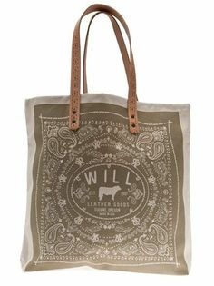 Our Will Leather Bandana print canvas tote bags are now 50% OFF in store!