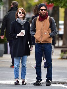 Emma Stone and Andrew Garfield had a VERY normcore Halloweekend
