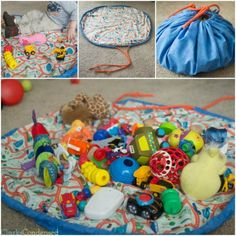 DIY Toy or Lego Bag and Playmat