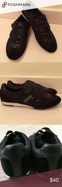 Coach Authentic Kyra Sneakers Blk Size 9   Coach Authentic Kyra Sneakers Blk Size 9. Gorgeous barely worn Coach sneakers. Extremely stylish and comfortable Coach Shoes Sneakers