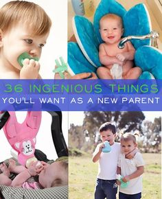 36 Ingenious Things You'll Want As A New Parent... Oddly enough, you can't actually buy/make all of these but some of them are worth looking into!