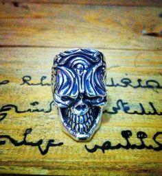 Skull Ring. Full Silver Ring