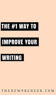 The #1 way to improve your writing - Writing can be a hassle. If you have…