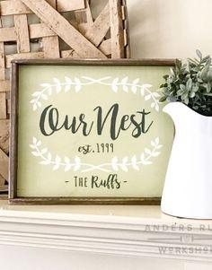 Our Nest Wood Framed Sign – 18×21