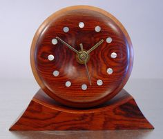 Mod Table Clock by Guitar Maker Michael Gnapp Mid by ClubModerne, $145.00
