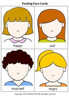 8 Best Images of Feeling Faces Printables - Printable . Emotions Preschool, Teaching Emotions, Body Preschool, Emotions Activities, Kids Learning Activities, Social Emotional Learning, Preschool Classroom, Preschool Worksheets, Toddler Activities
