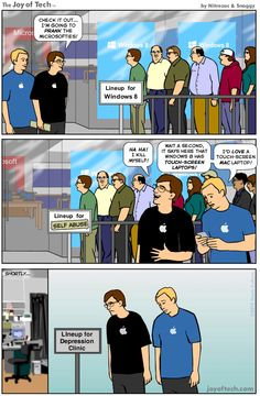 Apple fanboys prank Windows 8 fans, then realize Windows 8 is better than Mac [Comic]