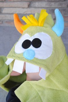 6f230e1adb88f2 How to Sew a Monster Hooded Towel - made one for Amelia & another for
