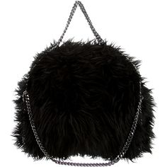 Pre-owned Stella McCartney Falabella Faux Fur Fold-Over Tote ($595) ❤ liked on Polyvore featuring bags, handbags, tote bags, logo tote bags, handbags totes, zipper tote, zippered tote bag and foldable tote bag