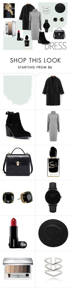 """Winter Dress"" by xo-elle ❤ liked on Polyvore featuring WithChic, Steve Madden, Warehouse, Giorgio Armani, Tory Burch, CLUSE and Astrid & Miyu"