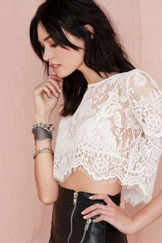 Guess what I'm ordering! Stylish Petite, Yes To The Dress, Lace Crop Tops, Crop Shirt, Petite Fashion, Dark Hair, Fashion Beauty, Woman Fashion, Passion For Fashion