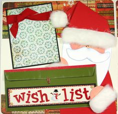 12 x 12 Premade Scrapbook Layout Pages Christmas Wish List Santa. $29.99, via Etsy.