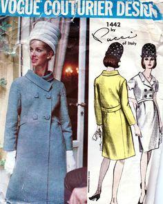 Vogue Couturier Design 1204 Mattli of England Coat Size16