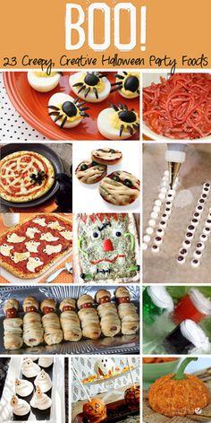BOO!  23 Creepy, Creative Halloween Party Foods #howdoesshe #halloweenfood howdoesshe.com