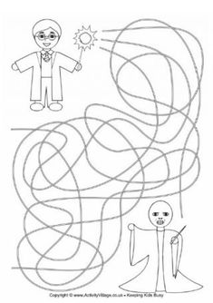 Harry Potter Maze 1 - One of these routes leads Harry to Voldemort. Ask your child to guess which route is the correct one, then trace them all to find out. Harry Potter Activities, Harry Potter Printables, Harry Potter Games, Harry Potter Birthday, Harry Potter Christmas Decorations, Yer A Wizard Harry, Maze, Voldemort, Hogwarts