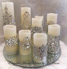 Conjunto de velas, flickering LED w Silver Christmas Decorations, Gold Christmas, Christmas Crafts, Christmas Ornaments, Candle Decorations, Wedding Decorations, Christmas Candles, Xmas, Decorating Candles