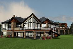 Stunning Mountain House Plan with Walls of Glass - thumb - 01 Mountain House Plans, Lake House Plans, Family House Plans, Dream House Plans, House Floor Plans, Mountain Living, Mountain Homes, Contemporary Style Homes, Contemporary House Plans