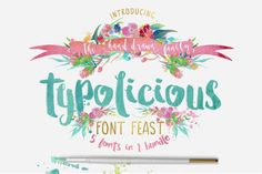 INTRO PRICE - $60 worth of new fonts for only $20!! Please welcome the new Typolicious Font Feast from Creativeqube Design - Third Storey affiliate