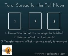 Tarot Spread for the Full Moon