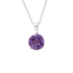 Image of Amethyst Reine Pendant, Sterling Silver