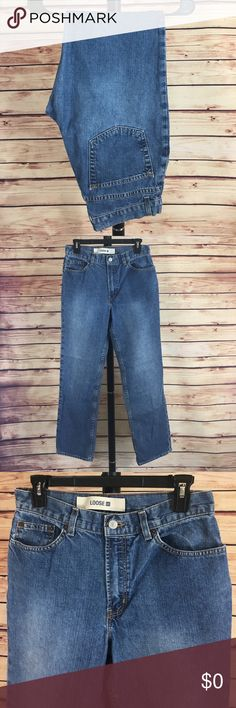 """👖 GAP straight leg denim jeans ✨Newly listed items are priced to move.. please help me clear out my actual closet 😉 Brand: GAP Size: 8 regular  Type: medium denim wash, straight leg style Details: """"GAP loose"""" fit, four functioning pockets  Waist measurement: 15"""" across  Inseam: 30"""" Length: 40"""" Condition: preloved, excellent  Other: this item does not fit me, sorry I cannot model ✨Build a bundle with all your likes and use the automatic bundle discount -or- make me a bundle offer✨ GAP Jeans…"""
