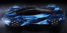 Concept exploring complex shaping in automotive design.