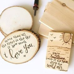 We are convinced that there is nothing more beautiful than wood burning designs on natural wood...