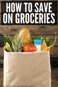 Groceries | Budget | Save Money