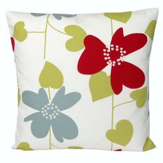 Floral Throw Pillow Cover 18 x 18 inch Cushion Cover by CoupleHome, $18.50