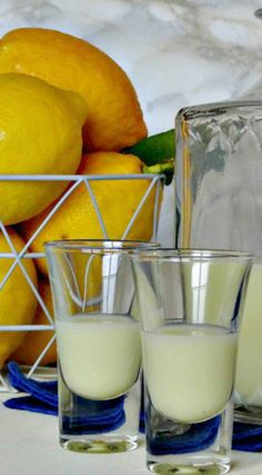 cream of limoncello is a little more versatile and can be used for more than just an after dinner drink Wine Drinks, Cocktail Drinks, Cocktail Recipes, Alcoholic Drinks, Cocktails, Jameson Drinks, Drink Recipes, Fancy Drinks, Sweets Recipes