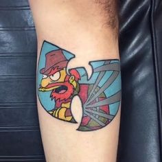 @adam_forero We love a good Wutang X Simpsons crossover and this groundskeeper Willie piece is no exception. ------------------------------------------ #thesimpsonstattoo #thesimpsons #simpsonstattoo #simpsons #tattoo #moe #inked #tat #tattyslip #simpsonsfan #homer #bart #lisa #maggie #marge #mattgroening #futurama #cartoontattoo #cartoontats #epictattoo #simpsonstat