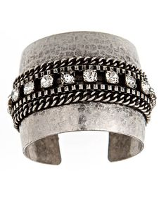 Blu Bijoux Clear Crystal and Chains Hammered Cuff. Saw this in People StyleWatch and snapped it up. Love!