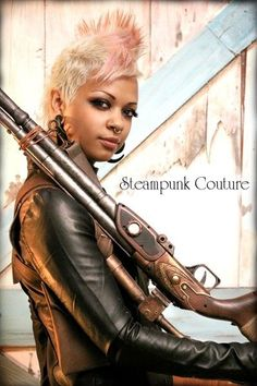 Afro Steampunk | Found on steampulp.tumblr.com