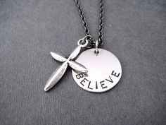 CROSS BELIEVE Round Pendant Necklace  Inspirational by TheRunHome