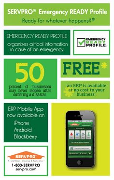 Emergency Ready Profile #Infographic #Servpro #EmergencyPreparedness