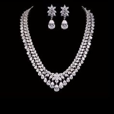 Grand wedding Diamond Imitation Necklace set