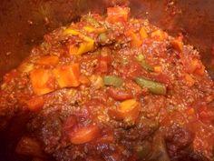 Homemade sweet potato chili