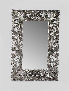 26 fantastiche immagini su baroque mirror provencal for Specchio cornice argento