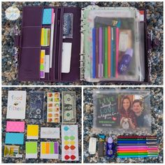 How to arrange and organise Filofax. What stationary accessories to use. Very Colourful. filofax #filofaxing #inspiration #diy #personalplanner