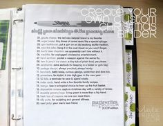 Christmas Binder...Read It...Will add some of this to December Binder