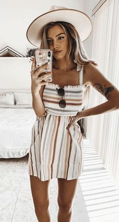 75 Cute Trendy Summer Outfits to Copy Now 2019 75 Cute Trendy Summer Outfits to Copy Now Trendy Summer Outfits, Preppy Outfits, Spring Outfits, Cool Outfits, Fashion Outfits, Summer Dresses, Edgy Outfits, Summer Fashions, Grunge Outfits