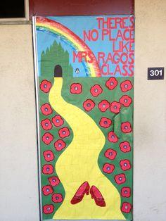 Wizard of Oz door cover for teacher appreciation week.