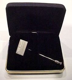 Vintage Hill-Rom Hillenbrand Industries Sterling Recognition Award Stick Pin Box