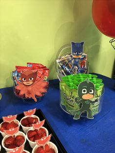 Pj Mask Party Decorations Pj Masks Party Food Place Cards  Party Ideas  Pinterest  Pj Mask
